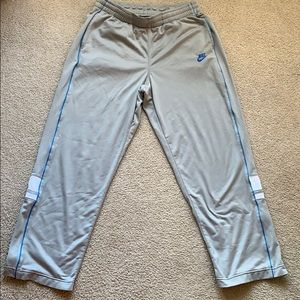 Nike Track Pants XL - Light Gray with Blue Accents